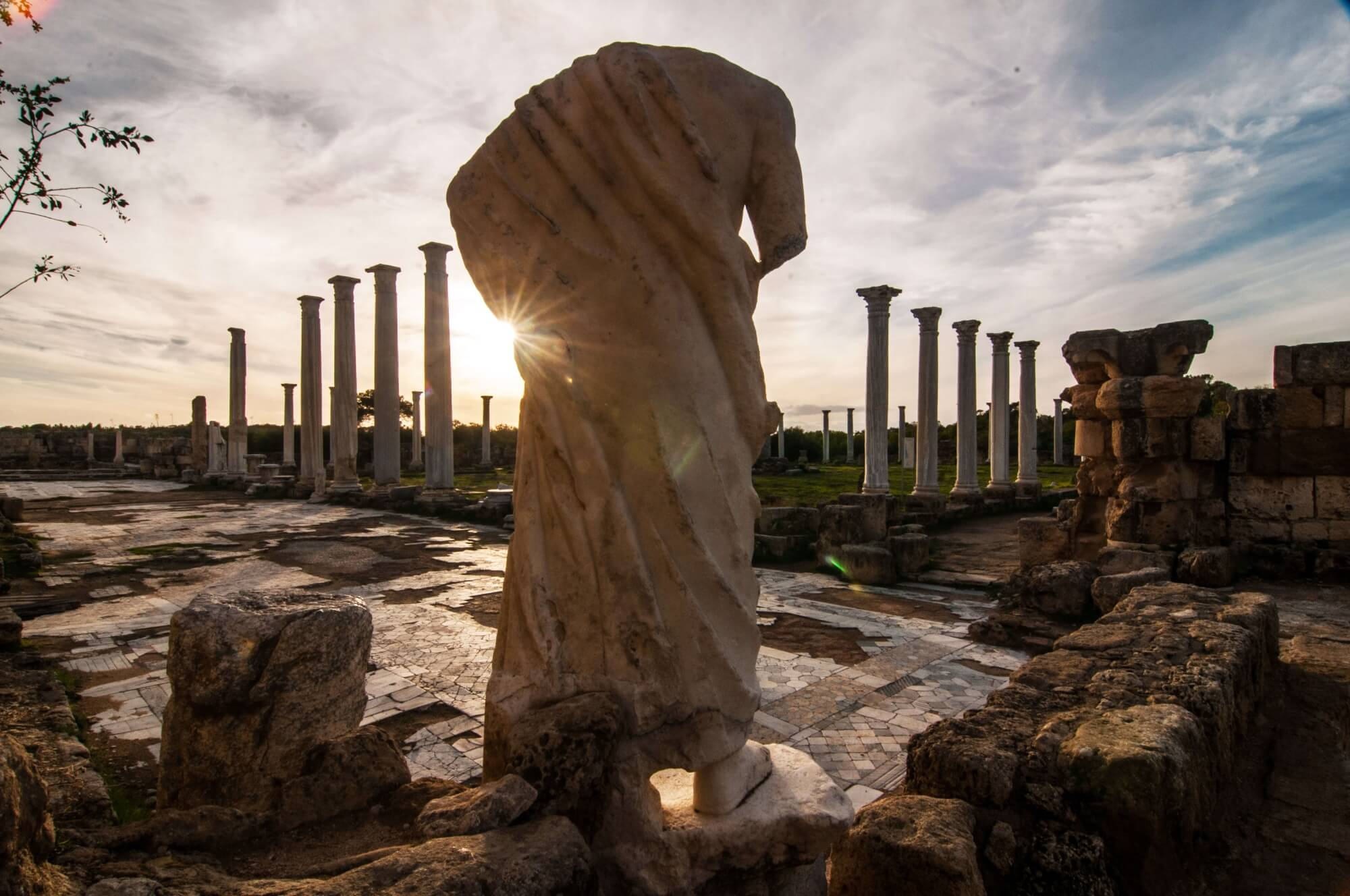 salamis ruins statue historical town