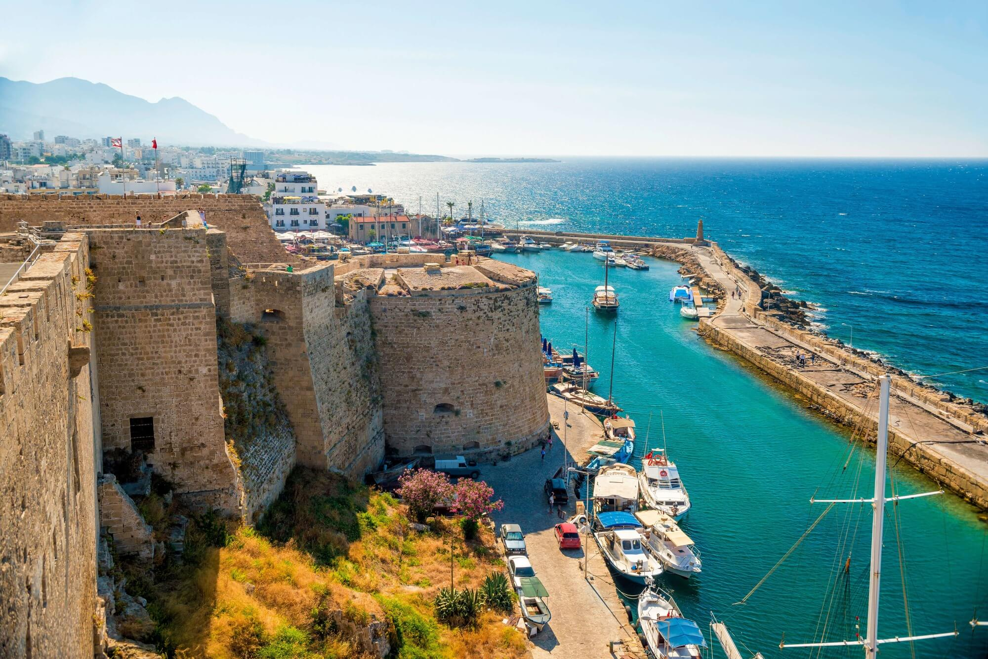 turquois sea old harbour kyrenia