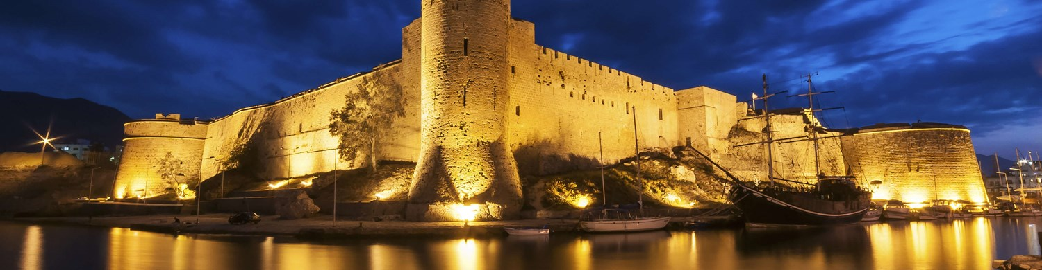 kyrenia castle beautiful night view