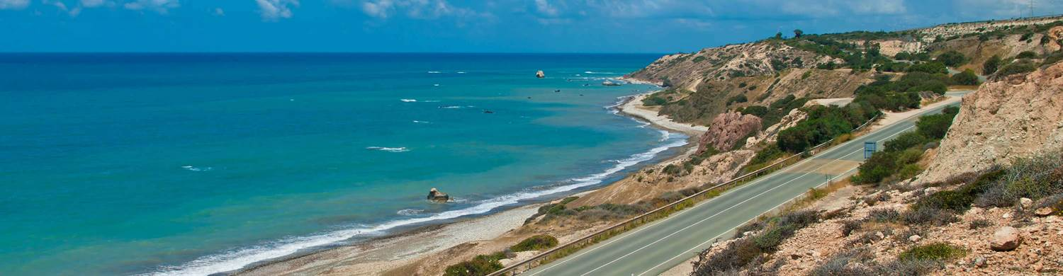 karpaz coastline road car trip