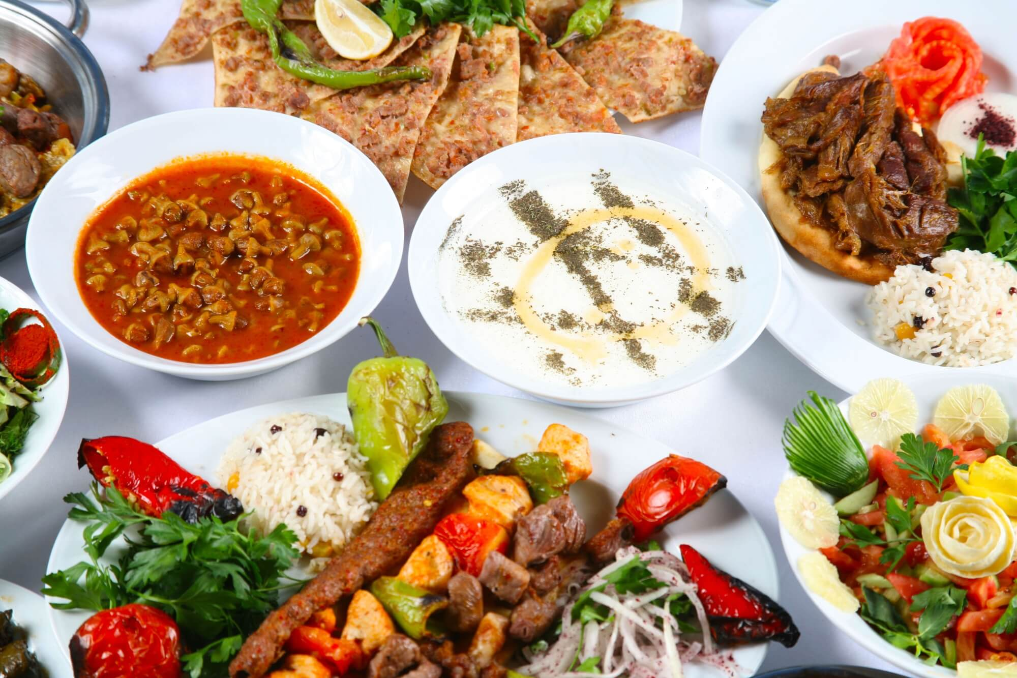 traditional turkish food meze