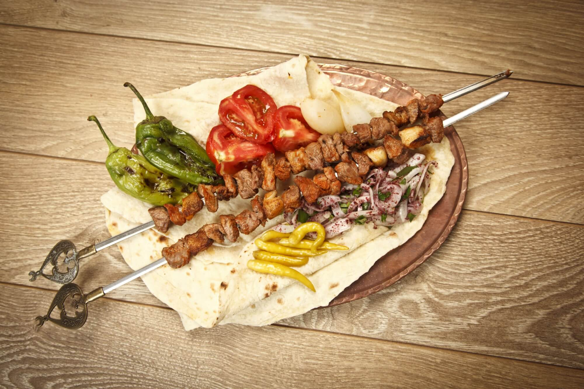 turkish meat shish food